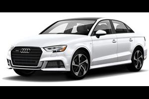 Audi A3 com fundo branco