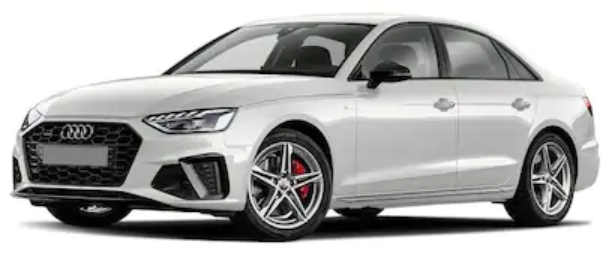 Audi A4 com fundo branco