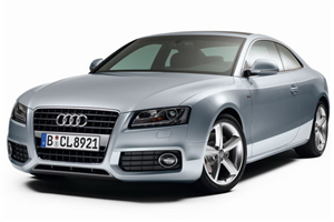 Audi A5 com fundo branco