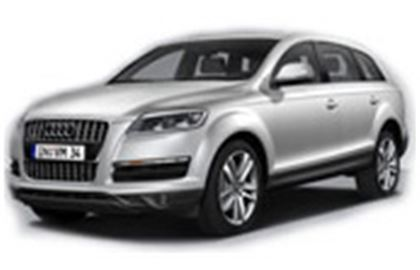 Audi Q7 com fundo branco