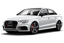 Audi RS3 com fundo branco