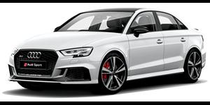 Audi RS3 fundo branco