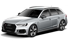 Audi RS4 com fundo branco