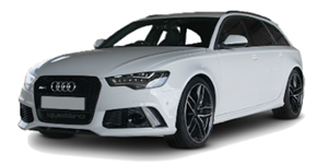 Audi RS6 fundo branco