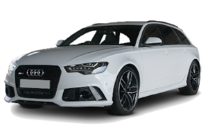 Audi RS6 com fundo branco