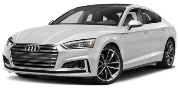 Audi S5 com fundo branco