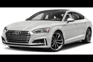 Audi S5 fundo branco