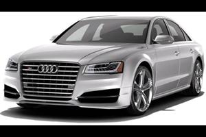 Audi S8 com fundo branco
