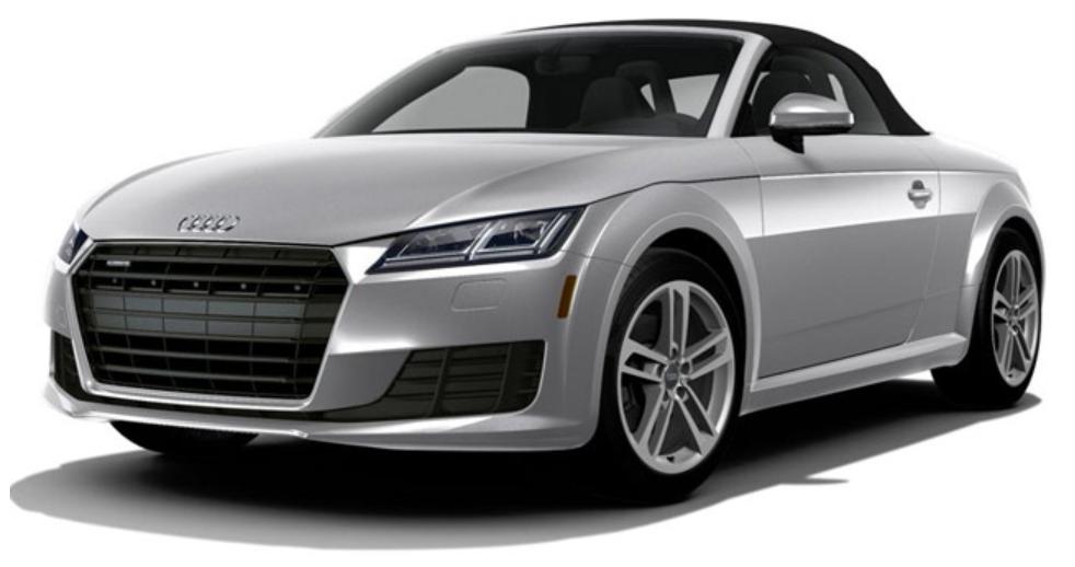 Audi TT com fundo branco