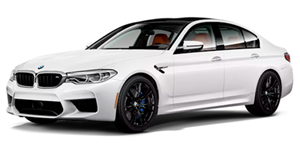 BMW M5 fundo branco