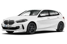 BMW Série 1 com fundo branco
