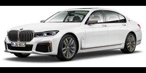 BMW Série 7 fundo branco