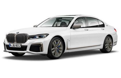 BMW Série 7 com fundo branco