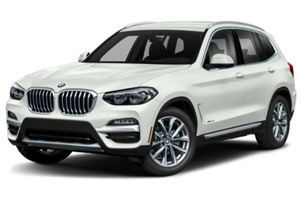 BMW X3 com fundo branco
