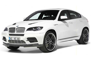 BMW X6 com fundo branco