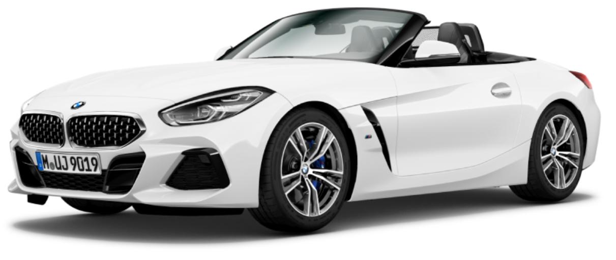 BMW Z4 com fundo branco