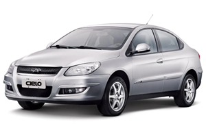Chery Cielo Sedan com fundo branco