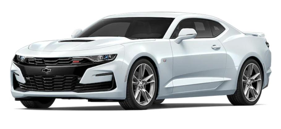 Chevrolet Camaro com fundo branco
