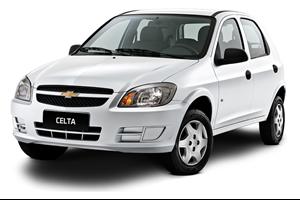 Chevrolet Celta com fundo branco