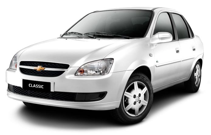 Chevrolet Corsa Classic com fundo branco