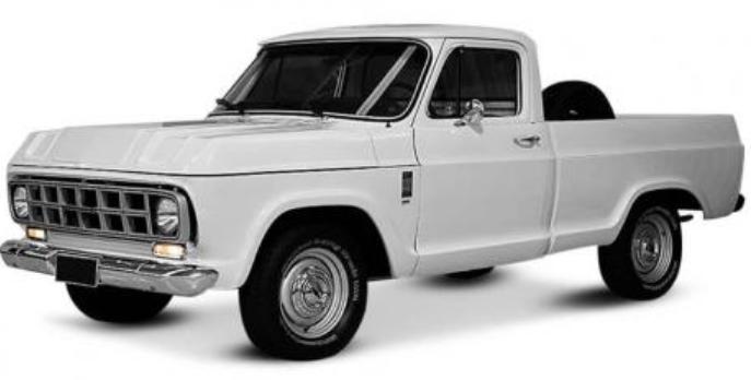 Chevrolet D-10 com fundo branco