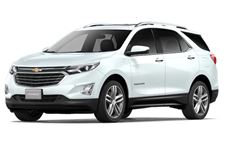 Chevrolet Equinox com fundo branco