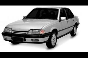 Chevrolet Monza com fundo branco