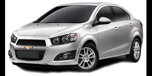 Chevrolet Sonic Sedan fundo branco