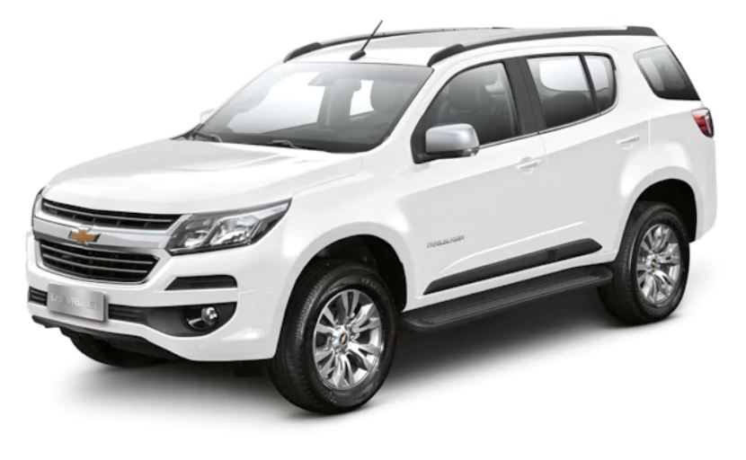Chevrolet Trailblazer com fundo branco