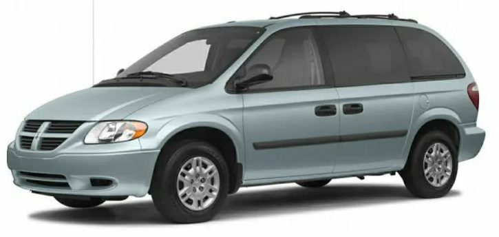 Chrysler Caravan com fundo branco