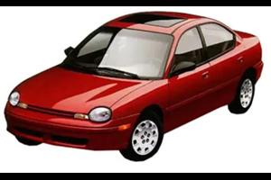 Chrysler Neon com fundo branco