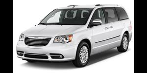 Chrysler Town & Country fundo branco