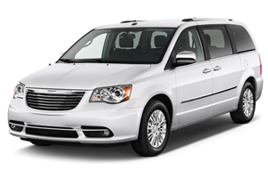 Chrysler Town & Country fundo branco
