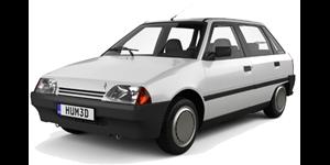 Citroën AX fundo branco