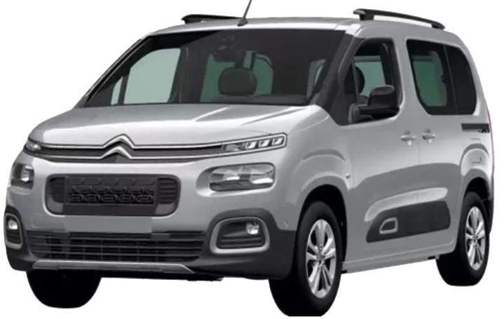 Citroën Berlingo com fundo branco
