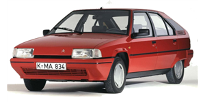 Citroën BX fundo branco