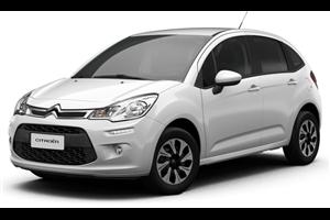 Citroën C3 com fundo branco
