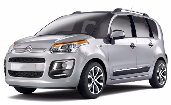 Citroën C3 Picasso com fundo branco