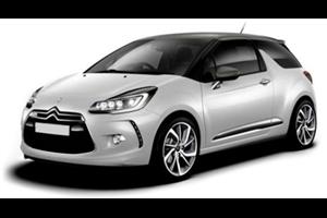Citroën DS3 com fundo branco