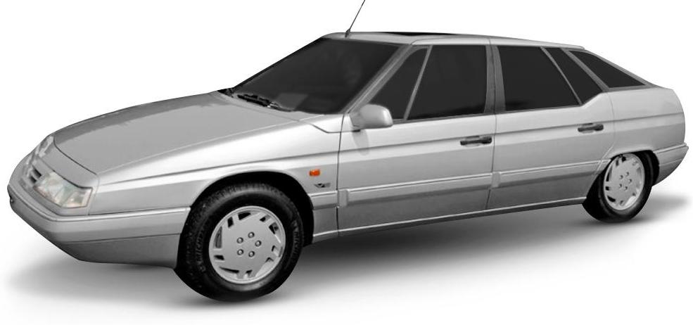 Citroën XM com fundo branco