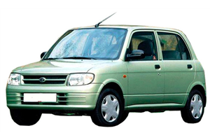 Daihatsu Cuore com fundo branco