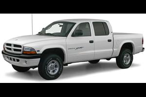 Dodge Dakota com fundo branco