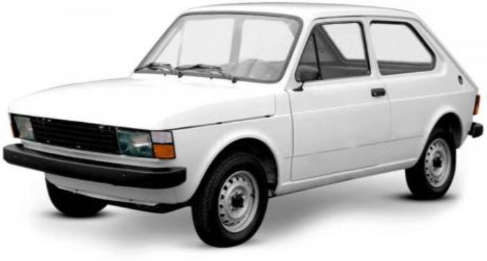Fiat 147 com fundo branco