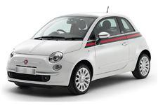 Fiat 500 com fundo branco