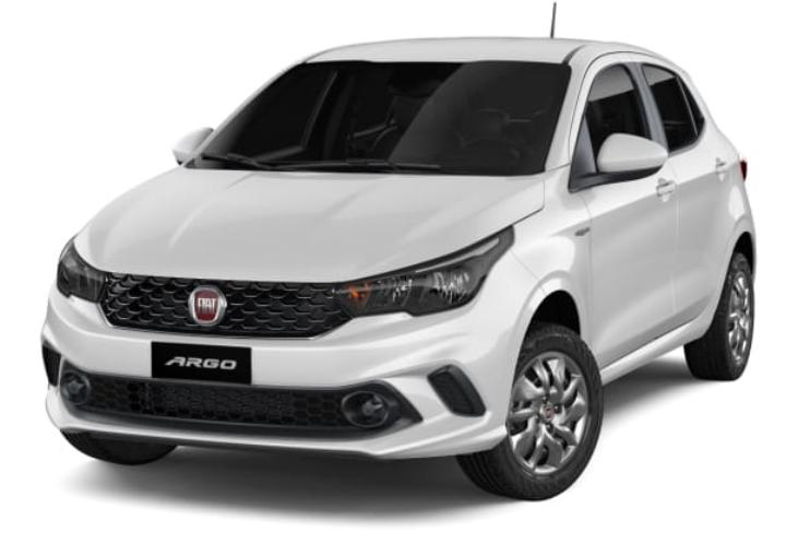 Fiat Argo com fundo branco