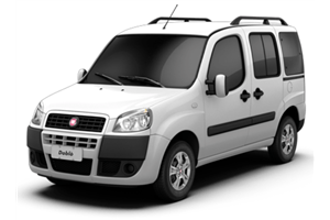 Fiat Doblo com fundo branco