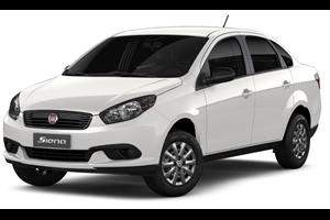 Fiat Grand Siena com fundo branco