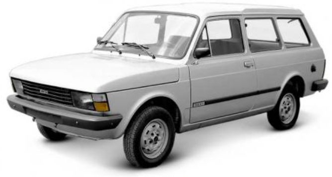 Fiat Panorama com fundo branco