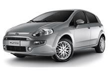Fiat Punto com fundo branco