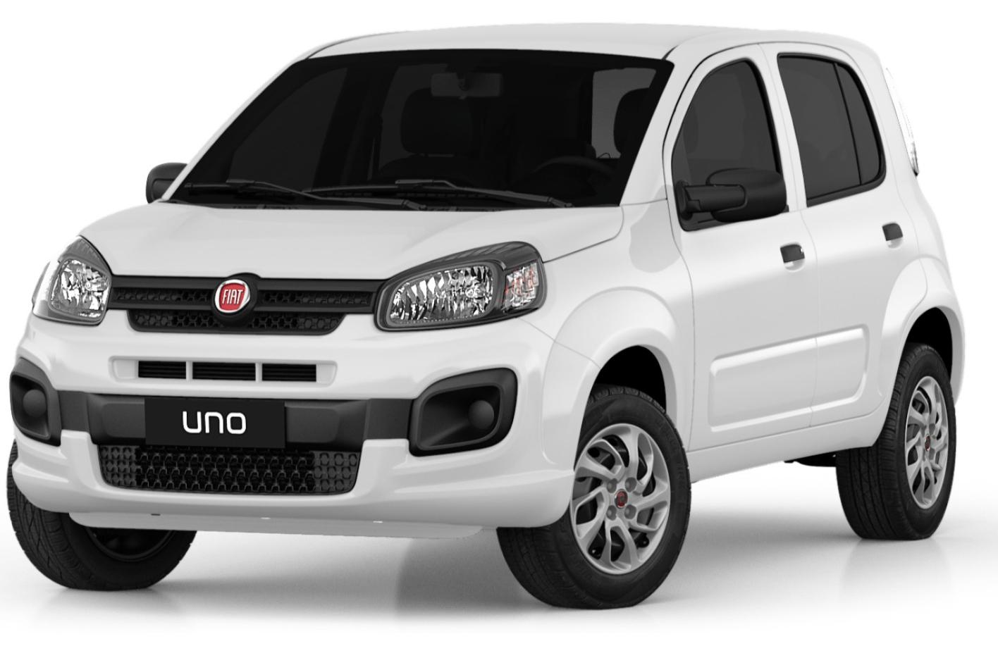 Fiat Uno com fundo branco